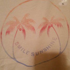 Salt Life Tops - Salt Life NWT ivory tank smile and sunshine
